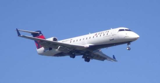 File photo of a Pinnacle Airlines CRJ 200