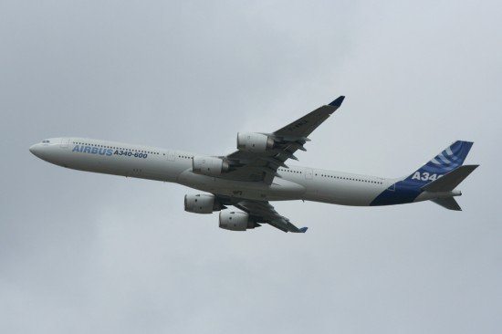 File photo of an Airbus A340-600 (photo: Merlin_1)