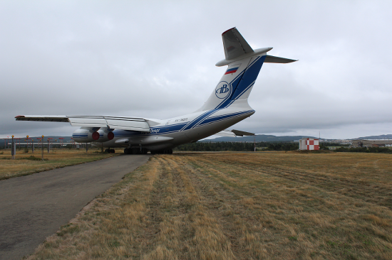 The IL-76 following the overrun (TSB)