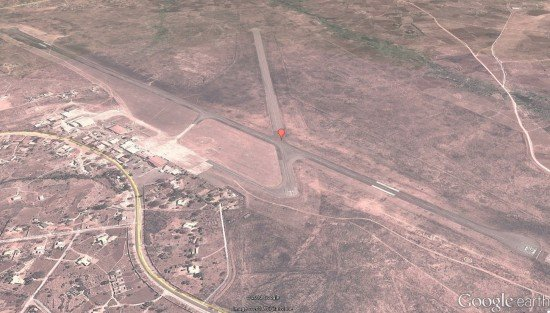Chileka Airport (FWCL) runway layout (Google Earth)