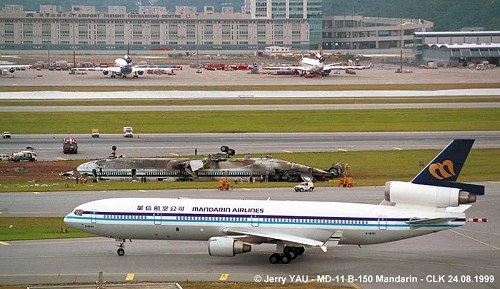 China Airlines Flight 642 Seen Here Belly Up After It
