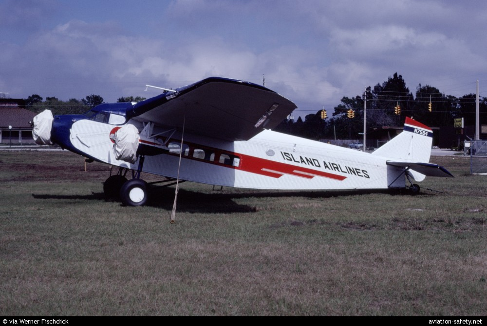 Asn aircraft accident ford 4 at b tri motor n7584 for Ford tri motor crash